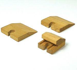 Wooden Railway track pieces 3 x Track End Pieces (compatible with Thomas, Brio)
