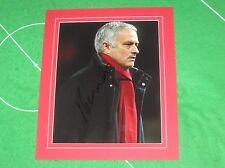 Jose Mourinho Signed & Mounted Manchester United FC Photograph