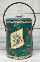Rare Smiley Candy Metal Tin Pail Container By The Confectionery House, London