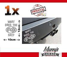 ORIG escape deportivo Fox logotipo plata pegatinas, sticker decal, autocollant 10x12cm