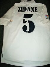 Authentic Zidane Real Madrid DEBUT Jersey Shirt 2001 2002 France Camiseta L