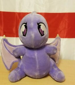 """12"""" Purple Shoyru Talking Plush Neopets wing damage see pictures/read"""