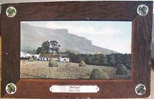 Irish Postcard CAVE HILL BELFAST Northern Ireland Milton 221 Faux Wood Shamrocks