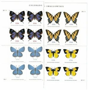 USA Non-Machineable Rate Butterflies - 4 Stamp Block Sets  # 4999 5346 5136 5568