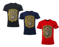 Mens Time Is Money Lions Printed Short Sleeve Tee Shirts Casual T-shirt Top Tee