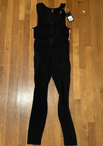 NEW Women Rapha Winter Biking Fleece Lined Bib-Tights Sz L, Black w/Pink