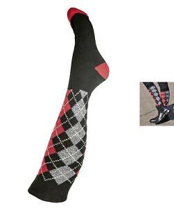 Socken Strumpfe Reitsocken Windsor schwarz/rot  38/40  HKM 3723  NEU