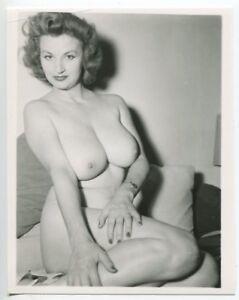 CHERRIE KNIGHT Burlesque Nude Star 1950 Original  Vintage Pinup Photo  B4789