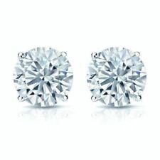 Pendientes de joyería con diamantes naturales de platino diamante