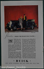 1934 BUICK advertisement, Buick convertible, color photo of car on stage
