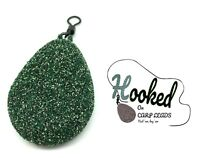 10 x Flat Pear Carp Leads - Speckled Green - All sizes available