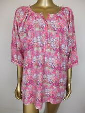 YARRA TRAIL SHIRT BLOUSE TUNIC TOP - FLORAL PINK SIZE X LARGE