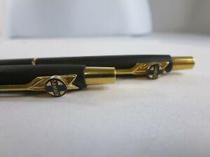 Vintage Parker Jotter Black Matte PL Santa Fe Railroad Pencil Pen Set RP4