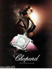 PUBLICITE ADVERTISING 066  2006  Chopard  montre  Happy sport collection