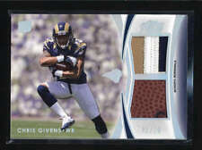 CHRIS GIVENS 2012 TOPPS PRIME DUAL ROOKIE 3-CLR PATCH BALL RC #01/10 AB5536