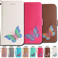 PU Leather Belt Butterfly Cover Stand Card Case For Motorola Moto E4(EU version)