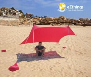 Lightweight Sun shade Protection Beach Shelters Tent Canopy with Sandbag Anchors