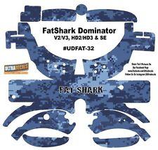 FatShark Dominator V2 V3 HD2 HD3 Skin Wrap Decal Fat Shark Navy Blue Camouflage