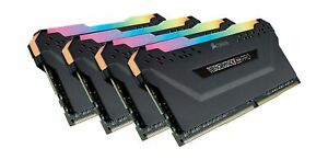 Corsair Vengeance RGB Pro 32GB (4x8GB) DDR4 3200MHz C16 LED Desktop Memory - ...