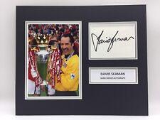 RARE David Seaman Arsenal Signed Photo Display + COA AUTOGRAPH ENGLAND