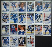 1990-91 Upper Deck UD Toronto Maple Leafs Team Set 22 Hockey Cards