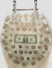 Toilet Seat Polyresin Coins Round Toilet Seat
