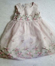 Bonnie Jean Pink Dress w/ Embroidered Flowers Size 2T Easter