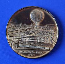 Bronze Medaille Frankreich Paris 1878 Ballon mit Gravur, Selten !
