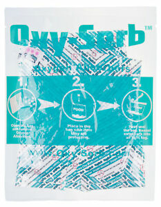 Oxy-Sorb 300cc Oxygen Absorber 1500 Blue Indicating Pack Dehydrated Food Storage