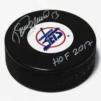 Teemu Selanne Winnipeg Jets Autographed Hockey Puck with HOF Inscription