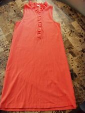 ladies J. CREW $168 SUMMER POLO DRESS worn once! CORAL modern KNEE small 4/6