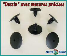 10x CLIPS AGRAFE CAOUTCHOUC DOUBLURE AILE RENAULT CLIO LAGUNA SCENIC MEGANE NEUF
