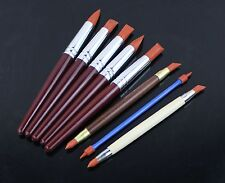 Set of 8 Sculpting Wipe Out Tools Set Rubber Shapers for Polymer Clay Ooak Doll
