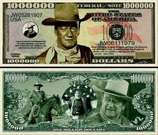 JOHN WAYNE Novelty Dollar Bill with Soft Polly Sleeve and Free shipping