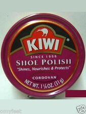 Kiwi Shoe Shine Wax Polish Paste Leather Care Boot HI-Gloss 1 1/8oz Cordovan