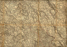 1900 Original Cloth Military Topographic Detailed Map Laas Italy Cabar Croatia