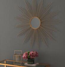 Vintage French Global Views Replica Style Gold XL Sunburst Starburst Mirror
