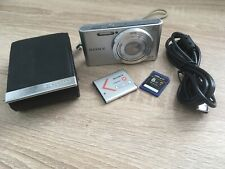 Sony Cybershot DSC W830 20.1MP Silver Digital Camera with 8GB SD card and case