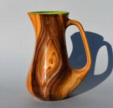 Ancien pichet en céramique de Vallauris décor faux bois – vers 1970