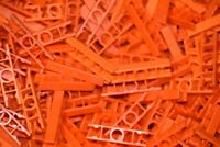 200 KNEX ORANGE LADDER 2-Position End Connectors Bulk Standard Parts/Pieces Lot