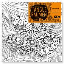 Osternest im GrasTangle Leinwandrahmen 20x20 Zenmalerei für Stifte Marker Farben