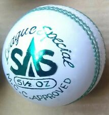1x League Specil White Cricket Ball Leather Entirely Stitched 5.5 oz Mcc Approvd