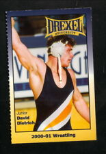 Drexel Dragons--2000-01 Wrestling Pocket Schedule