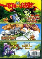 TOM & JERRY le dragon perdu + le haricot geant + robin des bois  3 dvd
