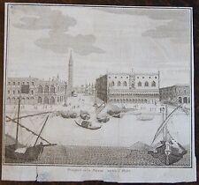ZUCCHI FRANCESCO : Prospetto della Piazza uerso il Mare . Gravure originale de 1