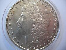 OLD 1896 U.S.MORGAN LIBERTY EAGLE 90% SILVER DOLLAR BULLION BARTER COIN + GOLD