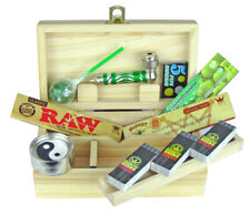 Wooden Rolling Box Smoking Rolling Set Hornet RAW Papers Tips Lolly Grinder Pipe