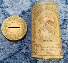 """Vintage Hallmark """"A Penny Saved"""" Tin Bank"""