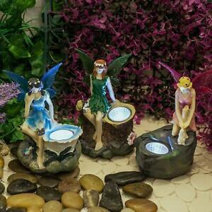 Fairy Statue Solar Spotlights (Triple Pack) Garden Ornaments