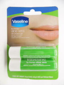 Vaseline Lip Therapy Aloe Vera Stick with Petroleum Jelly - 2pk/0.16oz Each